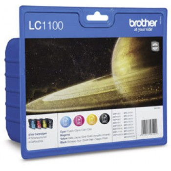 Brother Value Pack LC1100,  LC-1100 Multi Pack, 4...