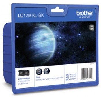 Brother Multipack schwarz LC-1280XLBK 2er Set Tintenpatronen