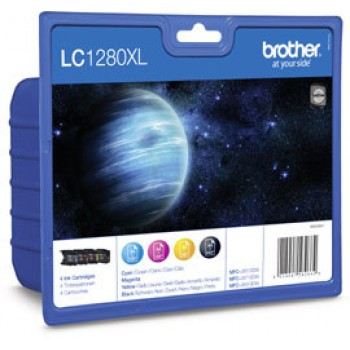 Brother Value Pack LC-1280, LC1280 4er Set Tintenpatronen