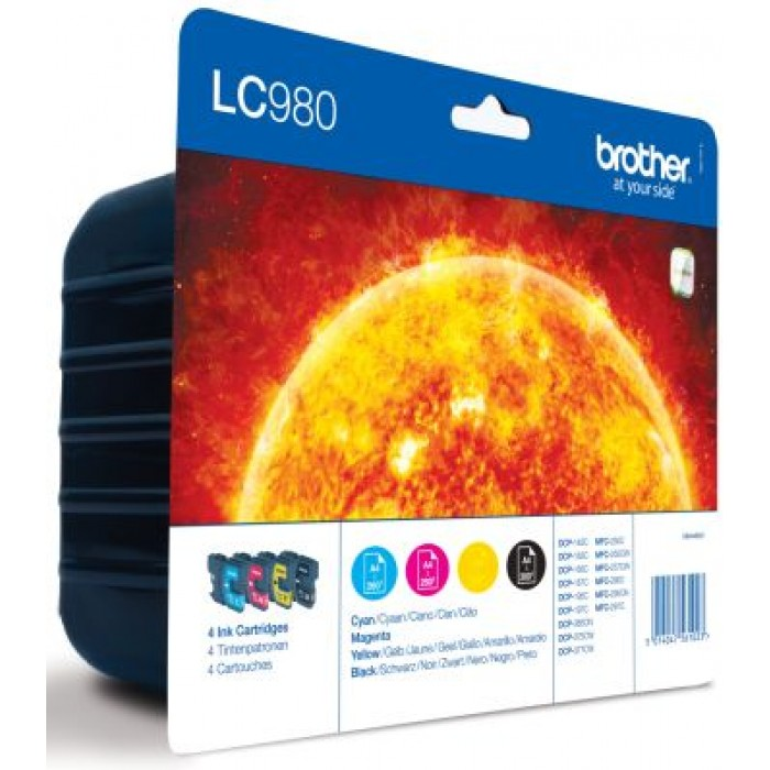 Brother Multipack  LC980, LC-980 4 Tintenpatronen