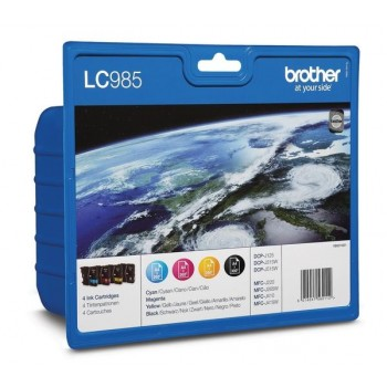 Brother Value Pack  LC985, LC-985  4 Tintenpatronen