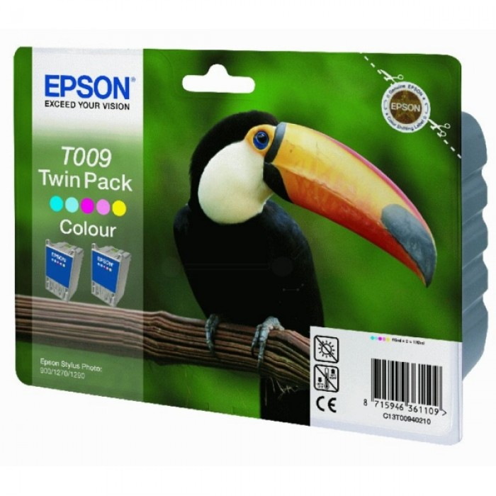 Epson Tintenpatrone color C13T00940210, 2er Pack T009 (2x66ml)