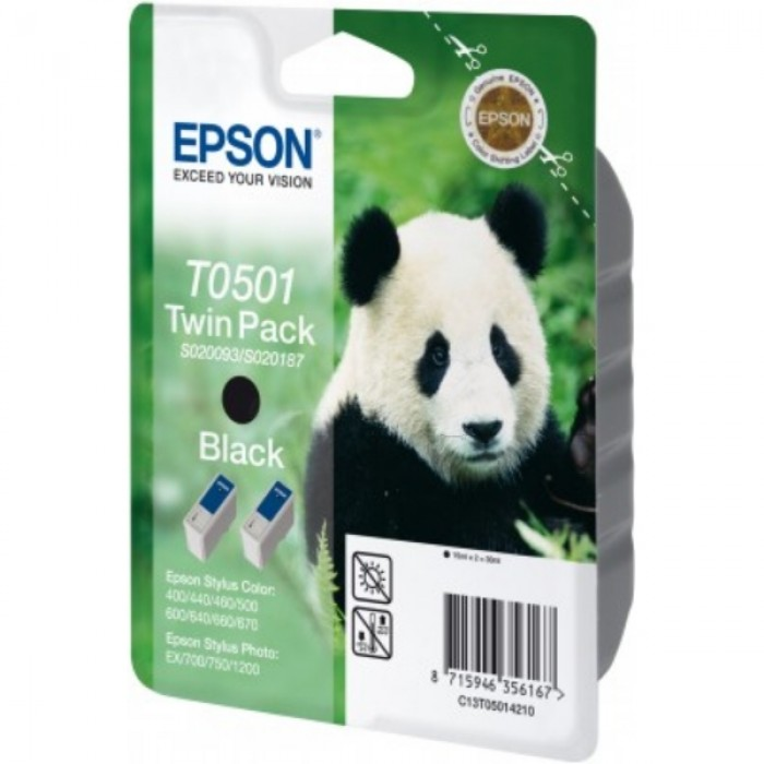 Epson Value Pack schwarz C13T05014210, T0501 Twin Pack 2...