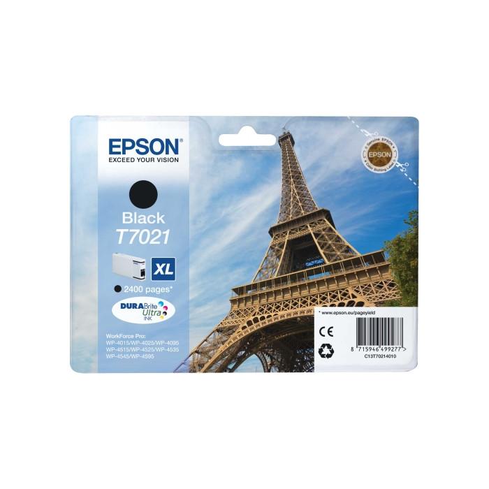 Epson Tintenpatrone schwarz C13T70214010, T7021 XL 2400...
