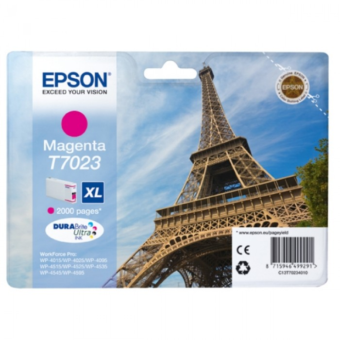 Epson Tintenpatrone magenta C13T70234010, T7023 XL 2000...