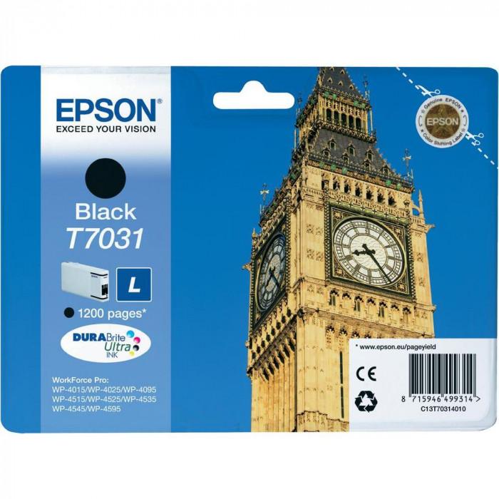 Epson Tintenpatrone schwarz C13T70314010, T7031 1200 Seiten