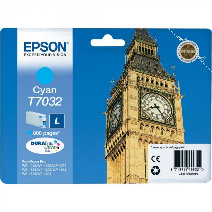 Epson Tintenpatrone cyan C13T70324010, T7032 800 Seiten