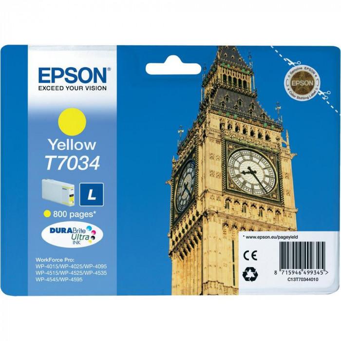 Epson Tintenpatrone gelb C13T70344010, T7034 800 Seiten